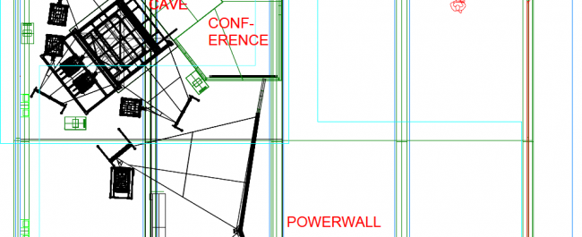 Positioning the cave, the powerwall and the conference room © NANCO