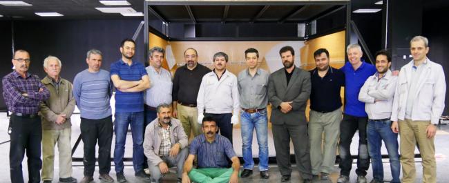 The Iranian glazier team